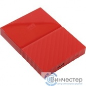 "WD Portable HDD 1Tb My Passport WDBBEX0010BRD-EEUE {USB3.0, 2.5"", red}"
